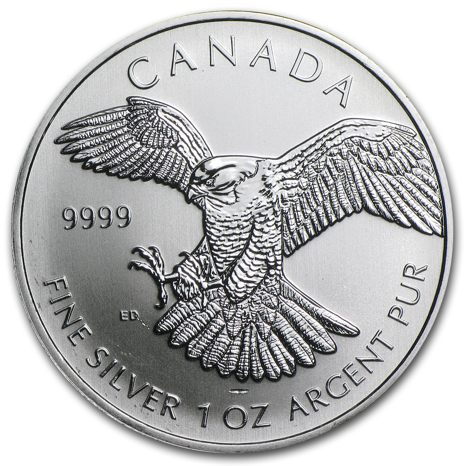 2014 1 oz Silver Birds of Prey Peregrine Falcon (Abrasions/Spots)
